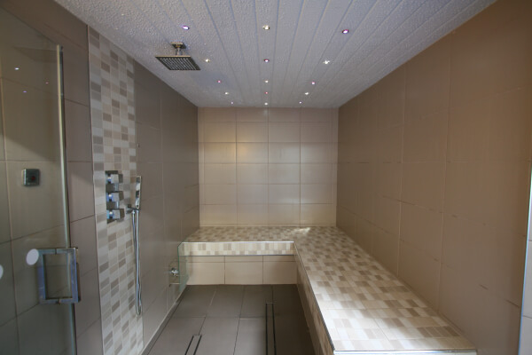 The steam room at the Pentire Hotel Cornwall